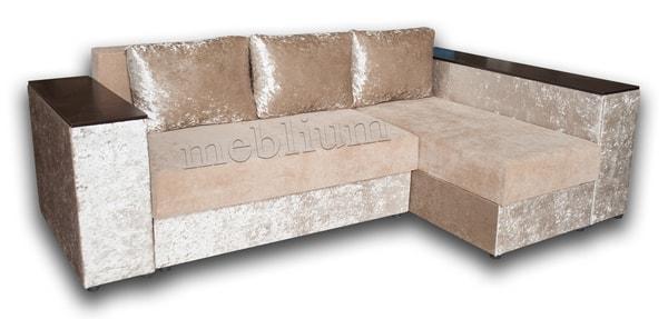 Угловой диван Оксфорд -42 ТАКЖЕ ЭТУ МОДЕЛЬ ЗАКАЗЫВАЛИ В ТКАНИ : Кордрой 379+Велюр беж