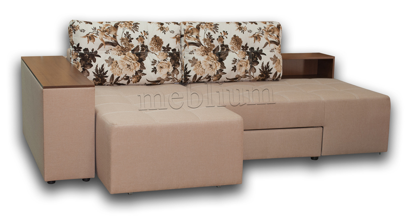 Угловой Диван Meblium 19 -12 Savanna_Biter ТАКЖЕ ЭТУ МОДЕЛЬ ЗАКАЗЫВАЛИ В ТКАНИ : весь диван - Лилиум беж-браун, подушки - Саванна кэмэл