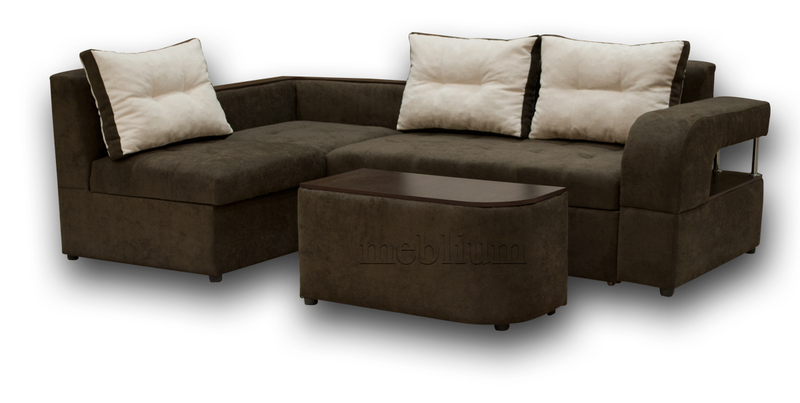 Угловой диван Голливуд -76 ТАКЖЕ ЭТУ МОДЕЛЬ ЗАКАЗЫВАЛИ В ТКАНИ : диван -Нью Йорк дарк браун, подушки - Нью Йорк беж.